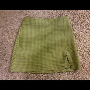 Urban outfitters skirt green check new